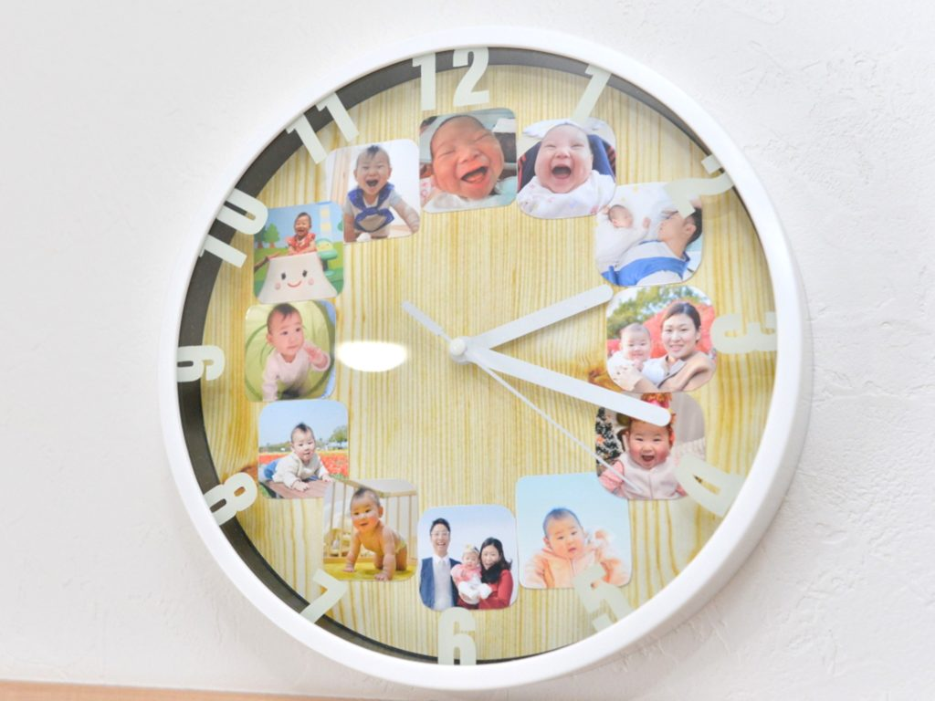 家族が笑顔になる写真活用術➆|ワンコインで!子ども・家族写真でフォト時計をつくろう|笑顔写真家えがお先生